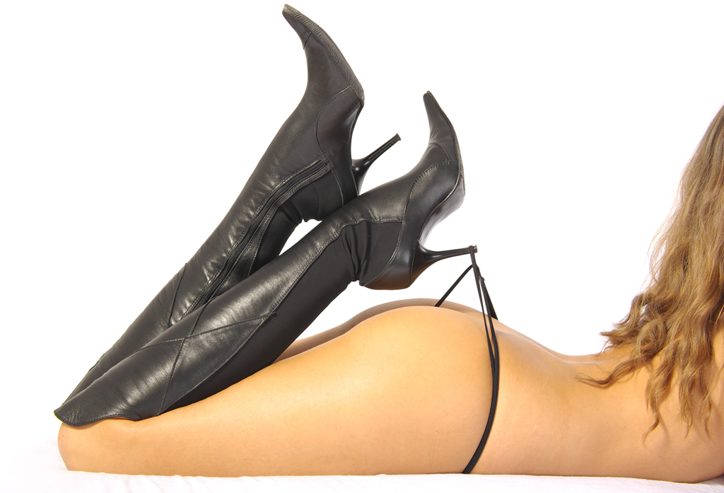 gString with Knee high Boots